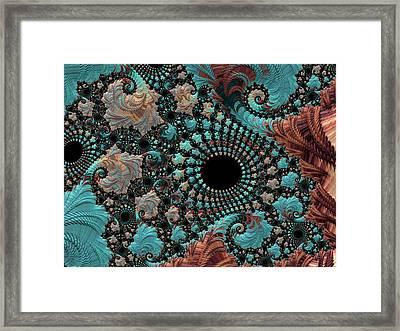 Bejeweled Fractal Framed Print by Bonnie Bruno