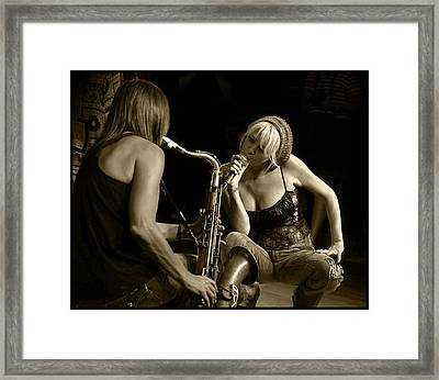 Bekka And Deanne Framed Print