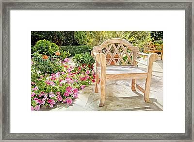Bel-air Bench Framed Print by David Lloyd Glover