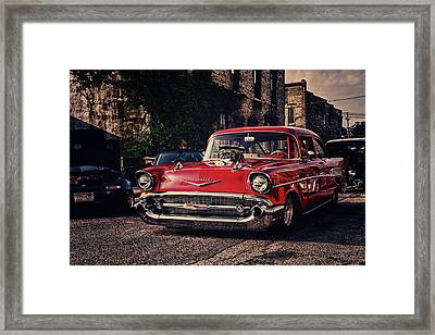 Framed Print featuring the photograph Bel Air Hotrod by Joel Witmeyer