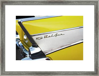 Framed Print featuring the photograph Bel Air Tail Fin by Toni Hopper