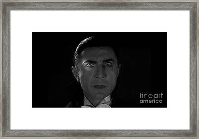 Bela Lugosi  Dracula 1931 And His Piercing Eyes Framed Print