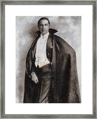 Bela Lugosi Hollywood Actor Framed Print by John Springfield