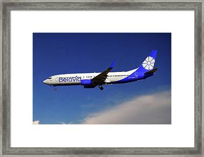 Belavia Boeing 737-8zm Framed Print