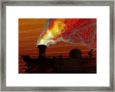 Belching Fire Framed Print by Joe Bonita
