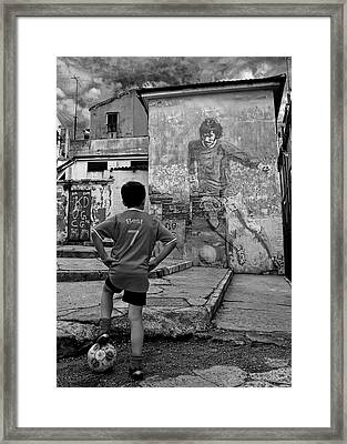 Belfast Boy In Memory Of George Best  Framed Print