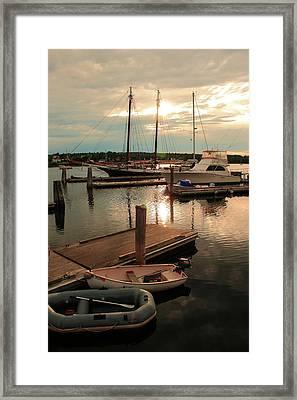Belfast Harbor Framed Print