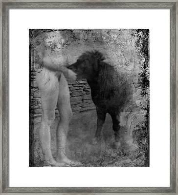 Belfast Nude With Mininature  Framed Print