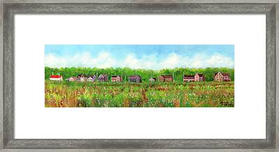 Belford's Nj Skyline Framed Print by Leonardo Ruggieri