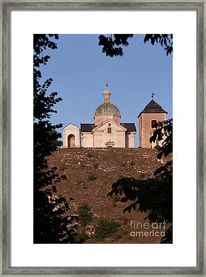 Framed Print featuring the photograph Belfry And Chapel Of Saint Sebastian by Michal Boubin