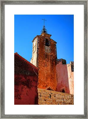 Framed Print featuring the photograph Belfry In Provence by Olivier Le Queinec