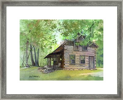 Framed Print featuring the painting Belgian Cabin by Kris Parins