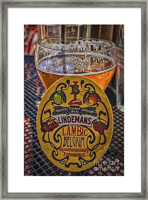 Belgium Bier Framed Print