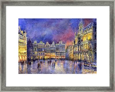 Belgium Brussel Grand Place Grote Markt Framed Print