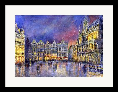 Grand Place Framed Prints