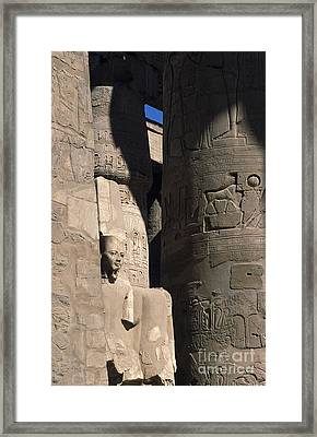 Framed Print featuring the photograph Belief In The Hereafter - Luxor Karnak Temple by Urft Valley Art
