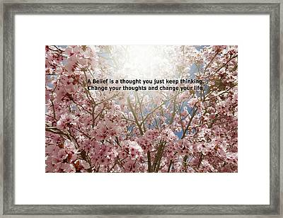 Belief Framed Print