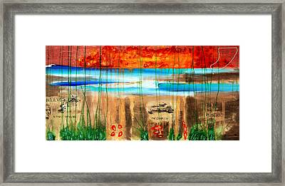 Believe A Faint Memory Incomplete Places Framed Print by Nathan Paul Gibbs