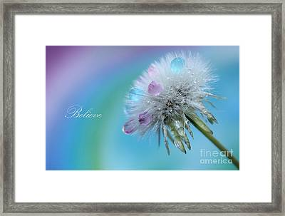 Believe Always Framed Print