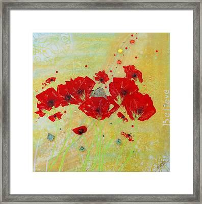 Believe By Mimi Stirn Framed Print
