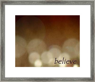 Framed Print featuring the photograph Believe by Cherie Duran