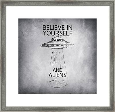 Believe In Yourself Quote Framed Print by Taylan Apukovska