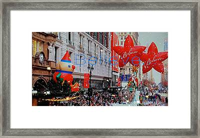 Believe Parade Framed Print by ARTography by Pamela Smale Williams