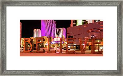 Framed Print featuring the photograph Believe Reno Nevada by Scott McGuire