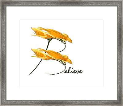Believe Shirt Framed Print