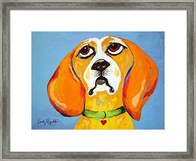 Belinda The Beagle Framed Print by Emily Reynolds Thompson