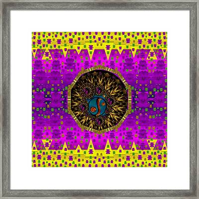 Belive In Peace On Earth In Smooth Flower Style Framed Print