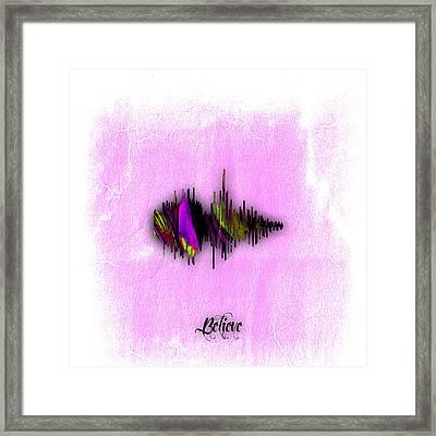 Belive Recorded Soundwave Collection Framed Print