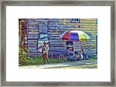 Belize City Street Merchant Framed Print