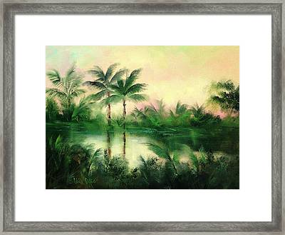 Belize River Framed Print by Sally Seago
