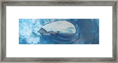 Belize Rollers Framed Print by Danita Cole