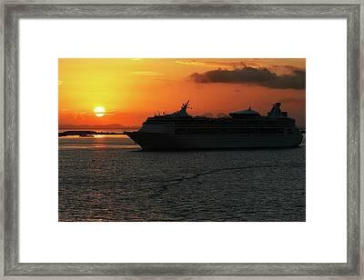 Belize Sunset Framed Print