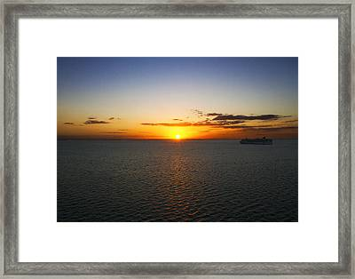 Belize Sunset Framed Print by Marlo Horne