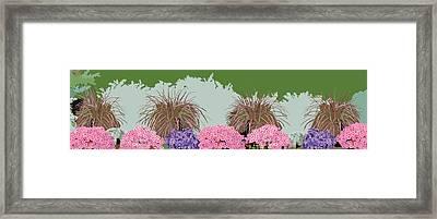Belknap Mill Flowers Framed Print by Marian Federspiel