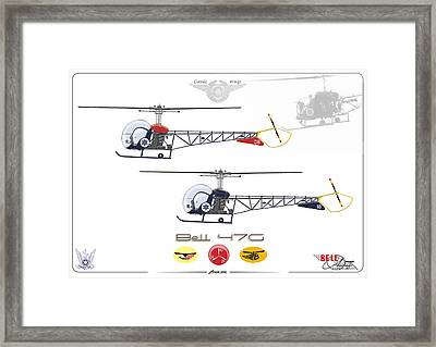 Framed Print featuring the digital art Bell 47g by Amos Dor
