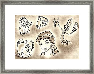 Bell And Friends Framed Print by Vanessa Silva