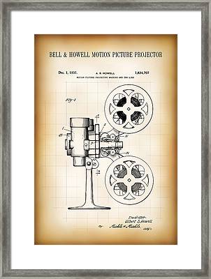 Bell And Howell Motion Picture Projector Patent 1931 Framed Print