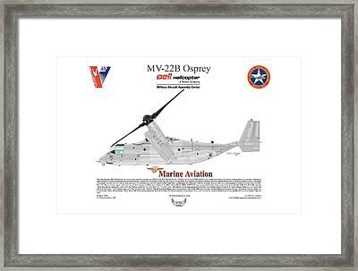 Bell Boeing Mv-22b Osprey 166720 Framed Print