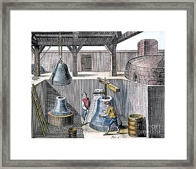 Bell Casting, 1763 Framed Print by Granger