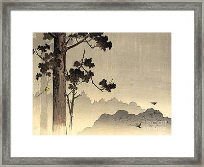 Bell Hanging From Tree 1907 Framed Print