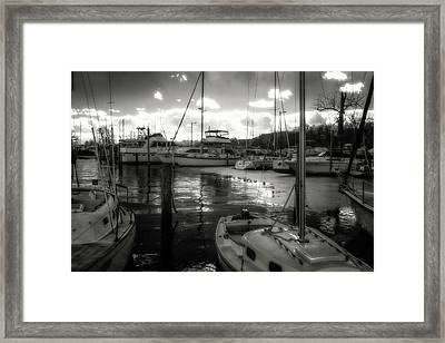 Bell Haven Docks Framed Print