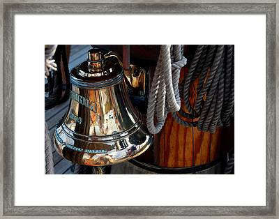 Bell On Schooner Virginia Framed Print