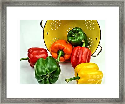 Bell Peppers Framed Print by Jimmy Ostgard
