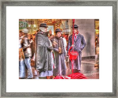Bell Ringing Irony Framed Print by David Bearden