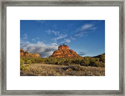 Bell Rock Beams Framed Print by Tom Kelly