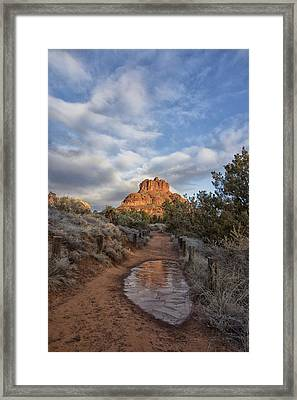 Bell Rock Beckons Framed Print